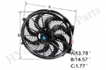 14 inch Universal Fan Radiator Cooling Electric Radiator Engine Cooling Fan 12V 90W