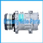 Sanden 7H15 SD7H15 6021 8148 air conditioning compressor fit Case New Holland TS110 Tractor 112mm 4pk 12v Horizontal Pad 40405266
