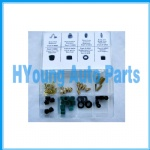 Charging Hose Seal & Depressor Assortment , Repair parts for most major brands of  charging hoses , 50PCS