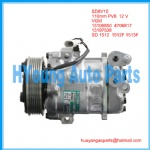 Compressor for Opel meriva 1.3CD  2003-07 SANDEN SD6V10 VGM 6PK 110 mm 12v 13106850 4706817 13197538 sanden 1512 sd1512F sd 1513F