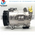 High quality Denso 6SEL16 ac compressor for Peugeot 308/508/Partner Tepee/RCZ DCP21012 648738 9659875480 447150-1730 9676862380